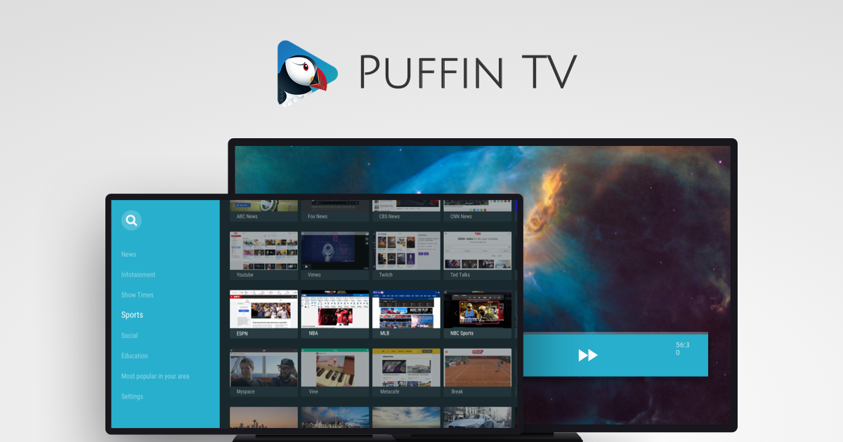 Puffin TV - A special edition of Puffin optimized for Android TV